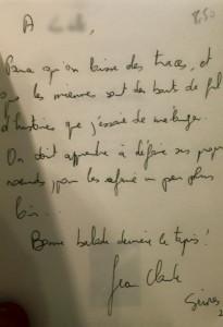 La dédicace de Jean-Claude Dunyach