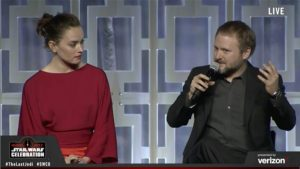 Star Wars Celebration - Daisy Ridley et Rian Johnson