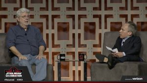 Star Wars Celebration - George Lucas et Warwick Davis