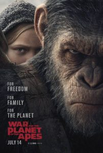 War for the Planet of the Apes affiche