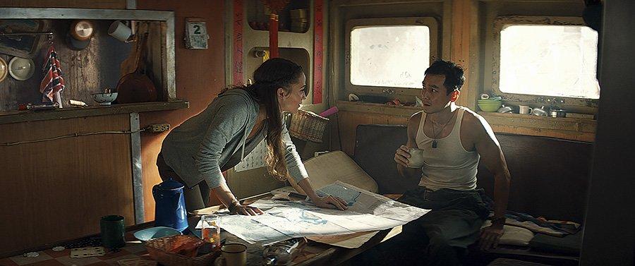 Tomb Raider film 2018 - Alicia Vikander et Daniel Wu