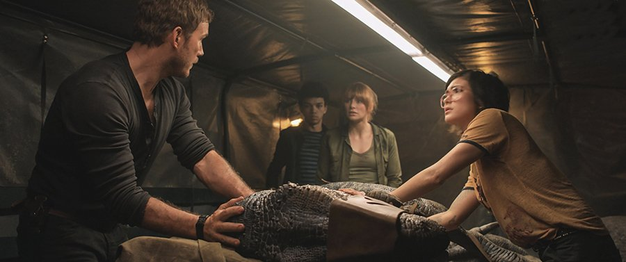 Jurassic World Fallen Kingdom - Owen, Franklin, Claire et Zia