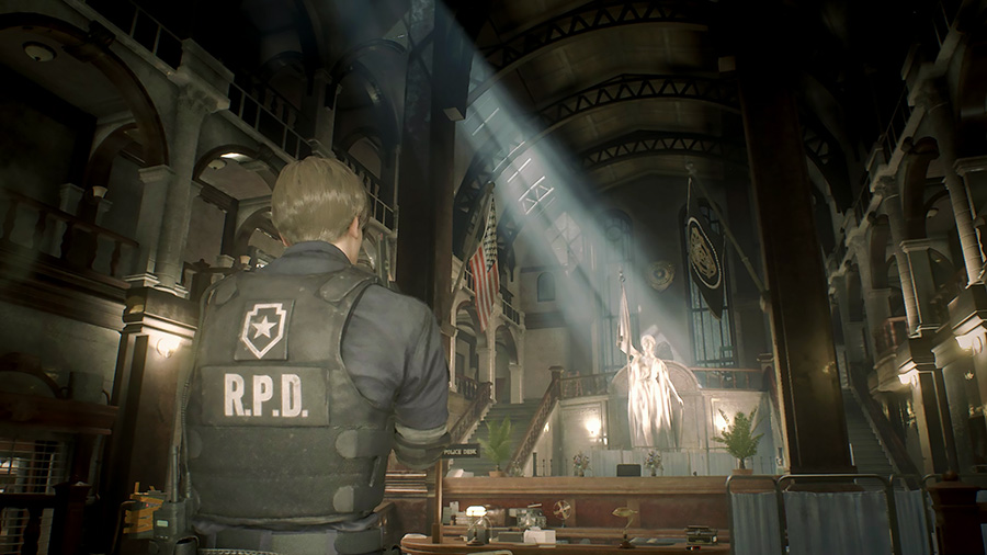 Resident Evil 2 « 1-shot » demo - hall