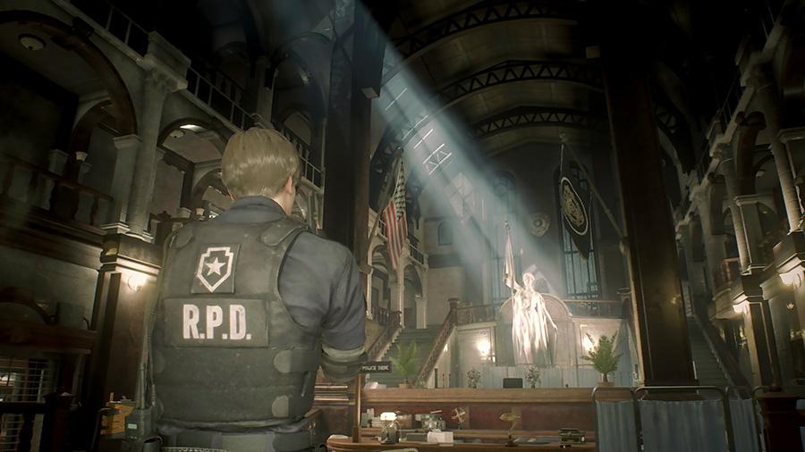 Resident Evil 2 «1-shot» demo - hall